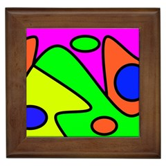 Abstract Framed Ceramic Tile by Siebenhuehner
