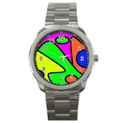 Abstract Sport Metal Watch by Siebenhuehner