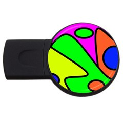 Abstract 4gb Usb Flash Drive (round) by Siebenhuehner