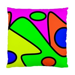 Abstract Cushion Case (single Sided)  by Siebenhuehner