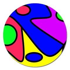 Abstract Magnet 5  (round) by Siebenhuehner