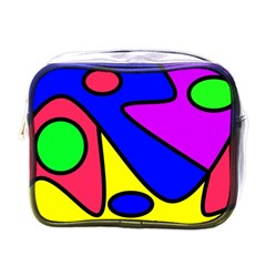 Abstract Mini Travel Toiletry Bag (one Side) by Siebenhuehner