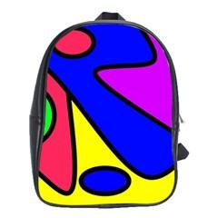 Abstract School Bag (xl) by Siebenhuehner