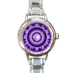 Mandala Round Italian Charm Watch by Siebenhuehner