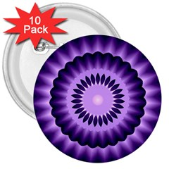 Mandala 3  Button (10 Pack) by Siebenhuehner