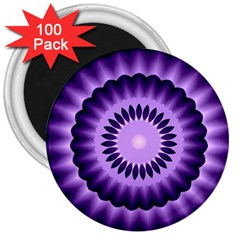 Mandala 3  Button Magnet (100 Pack) by Siebenhuehner