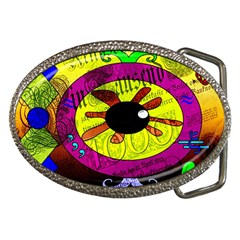 Abstract Belt Buckle (oval) by Siebenhuehner