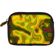 Abstract Digital Camera Leather Case by Siebenhuehner