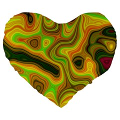 Abstract 19  Premium Heart Shape Cushion by Siebenhuehner