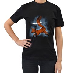Riding The Great Red Fox Womens' Two Sided T Shirt (black) by Contest1807839