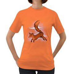 Riding the great red fox Womens' T-shirt (Colored) by Contest1807839
