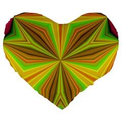 Abstract 19  Premium Heart Shape Cushion by Siebenhuehner