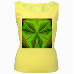 Abstract Womens  Tank Top (yellow) by Siebenhuehner