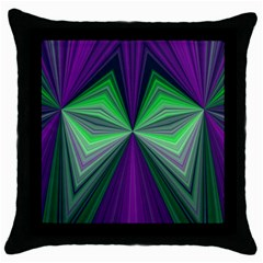 Abstract Black Throw Pillow Case by Siebenhuehner