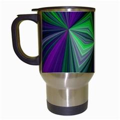 Abstract Travel Mug (white) by Siebenhuehner