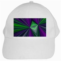 Abstract White Baseball Cap by Siebenhuehner