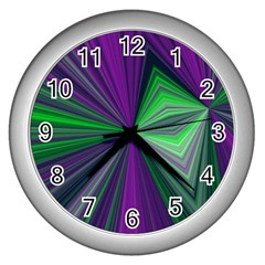 Abstract Wall Clock (silver)