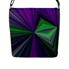 Abstract Flap Closure Messenger Bag (Large) by Siebenhuehner