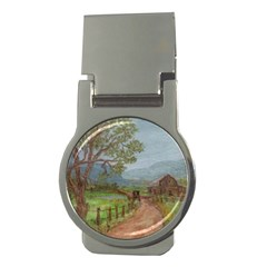 amish Buggy Going Home  By Ave Hurley Of Artrevu   Money Clip (round) by ArtRave2