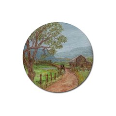 amish Buggy Going Home  By Ave Hurley Of Artrevu   Magnet 3  (round)
