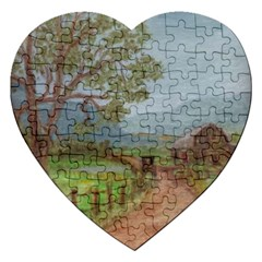 amish Buggy Going Home  By Ave Hurley Of Artrevu   Jigsaw Puzzle (heart) by ArtRave2