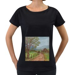 Amish Buggy Going Home  by Ave Hurley of ArtRevu ~ Women s Loose-Fit T-Shirt (Black) by ArtRave2