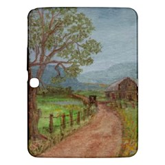 amish Buggy Going Home  By Ave Hurley Of Artrevu   Samsung Galaxy Tab 3 (10 1 ) P5200 Hardshell Case