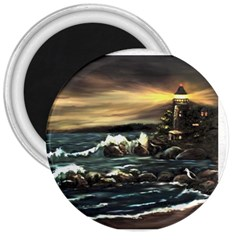 bridget s Lighthouse   By Ave Hurley Of Artrevu   3  Magnet by ArtRave2
