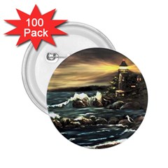 bridget s Lighthouse   By Ave Hurley Of Artrevu   2 25  Button (100 Pack) by ArtRave2