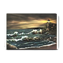 bridget s Lighthouse   By Ave Hurley Of Artrevu   Small Doormat by ArtRave2