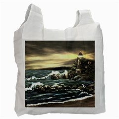 bridget s Lighthouse   By Ave Hurley Of Artrevu   Recycle Bag (one Side) by ArtRave2