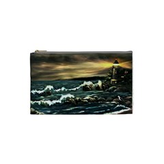 Bridget s Lighthouse   by Ave Hurley of ArtRevu ~ Cosmetic Bag (Small)