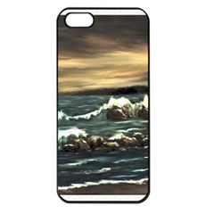 bridget s Lighthouse   By Ave Hurley Of Artrevu   Apple Iphone 5 Seamless Case (black) by ArtRave2
