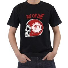 Ride Or Die Mens' Two Sided T Shirt (black)