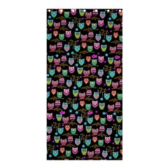 Happy Owls Shower Curtain 36  X 72  (stall)
