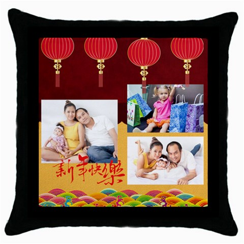 Chinese New Year By Ch   Throw Pillow Case (black)   A9pjijq4h1uj   Www Artscow Com Front