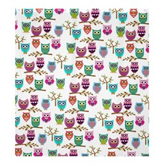 Happy Owls Shower Curtain 66  X 72  (large) by Ancello