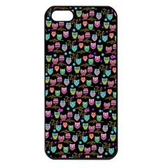 Happy Owls Apple Iphone 5 Seamless Case (black) by Ancello