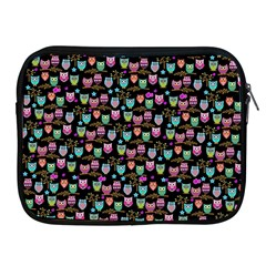 Happy Owls Apple Ipad Zippered Sleeve by Ancello