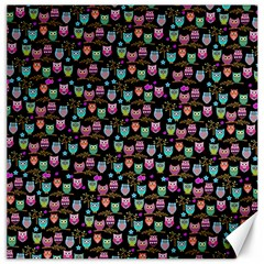 Happy Owls Canvas 16  X 16  (unframed) by Ancello
