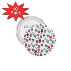 Happy Owls 1 75  Button (10 Pack)