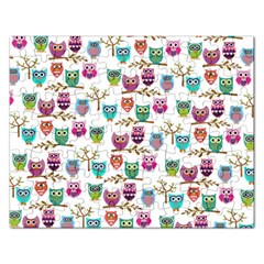 Happy Owls Jigsaw Puzzle (rectangle) by Ancello