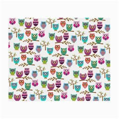 Happy Owls Glasses Cloth (Small, Two Sided) by Ancello