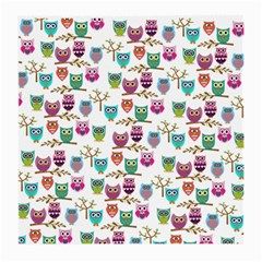 Happy Owls Glasses Cloth (medium, Two Sided) by Ancello