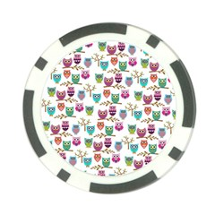 Happy Owls Poker Chip (10 Pack)