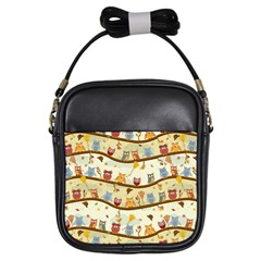 Autumn Owls Girl s Sling Bag by Ancello