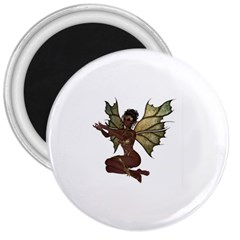 Faerie Nymph Fairy With Outreaching Hands 3  Button Magnet by goldenjackal