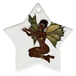 Faerie Nymph Fairy with outreaching hands Star Ornament