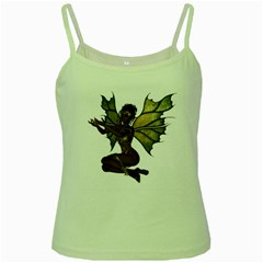 Faerie Nymph Fairy With Outreaching Hands Green Spaghetti Tank