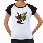 Faerie Nymph Fairy with outreaching hands Women s Cap Sleeve T-Shirt (White)
